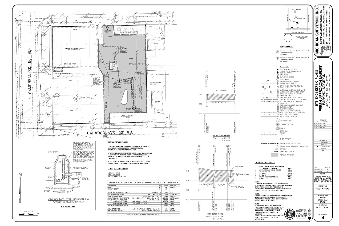 Services we offer michigan surveying inc for Sample site plan